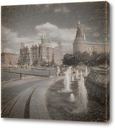 Постер Манежная площадь. Москва.