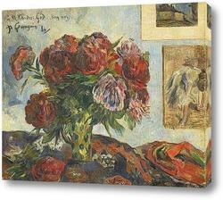 Постер Натюрморт с пионами, 1884