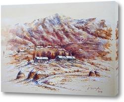 Картина Деревенька в горах