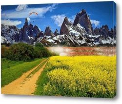 Постер дорога в горы