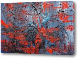 Картина Красный лес