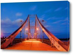Постер Вечерний пешеходный мост в Киеве