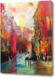 Картина Город умытый дождём