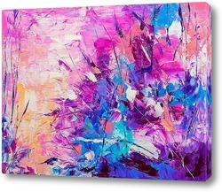 Постер Розовая абстракция