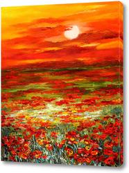 Картина Маковый закат