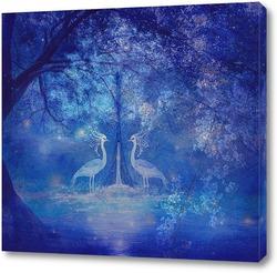 Постер Птицы в лесу