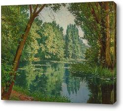 Картина Озеро с кувшинками