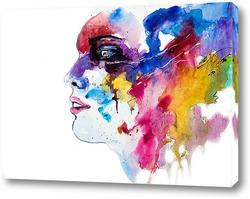 Постер Женский профиль