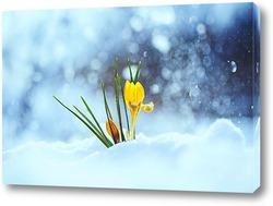 Картина первые цветы