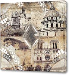 Постер Архитектура Парижа