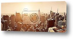 Постер Небоскребы Манхеттена