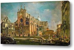 Картина Кампо Сан Дзаниполо (площадь свв Иоанна и Павла) со скуолой Сан