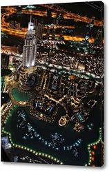 Постер Вид с самого высокого здания в мире «Бурдж-Халифа»