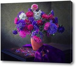 Постер Любимые цветы августа