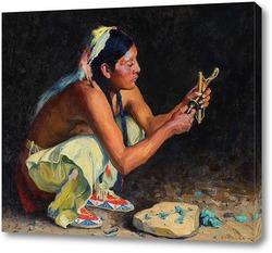 Картина Бирюзовый бисер
