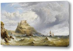 Голландские рыбаки в море