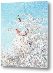 Снегири на рябине