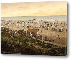 Постер Пляж, Боркум, Шлезвиг-Гольштейн, Германия