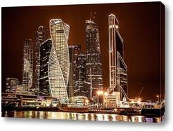 Постер Городские высотки Москвы сити