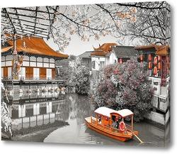Постер Пруд Хейан-Храм. Япония