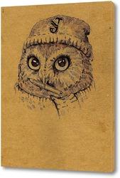 Картина Совушка в шапке