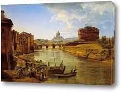 Постер Новый Рим. Замок Святого Ангела 1825