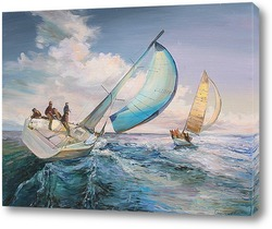 """Картина Картина, живопись """"Парусники на море"""""""
