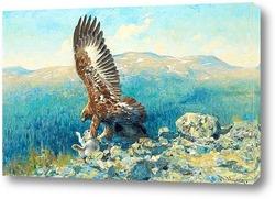 Постер Золотой Орел с добычей