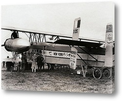 Old airplane ready to start