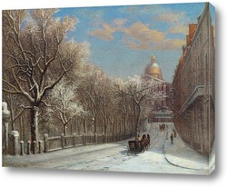 Постер Парк-стрит в зимний период, Бостон