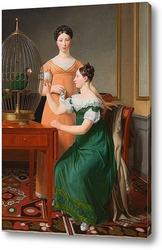 Картина Белла и Ханна. Старшие дочери М. Л. Натансона