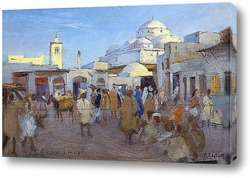 Постер Уличная сцена в Тунисе