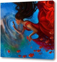 Постер The red fairy