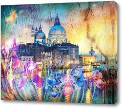 Постер Венеция и ирисы