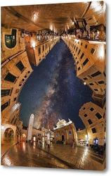 Постер Теплое небо старого города