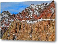 Постер Вид с Эльбруса на окрестные горы. Кабардино-Балкария