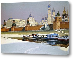 Кремль под снегом