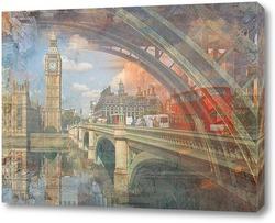 Постер  Биг Бен с мостом