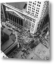 Постер Фондовая биржа Нью-Йорка,1929г.
