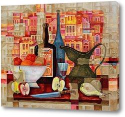 Картина Вино и фрукты