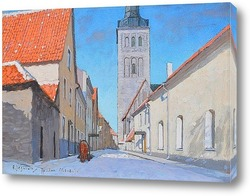 Картина Вид на город, Таллин