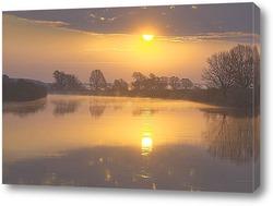 Постер Рассвет на реке