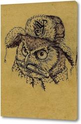 Картина Сова в шапке ушанке
