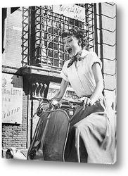 Постер Одри Хепберн в <Римских каникулах>