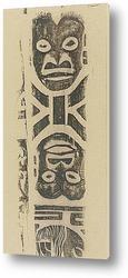 Картина Фриз маски (племя Ноа Ноа) 1895