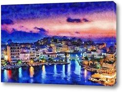 Постер Греция на закате