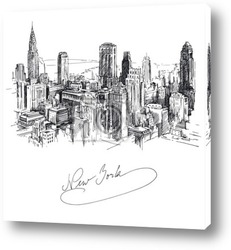 Постер New york - hand drawn metropolis