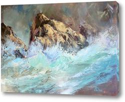 Картина Скалистый берег