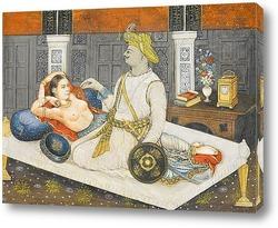 Картина Султан Типу со своей любовницей