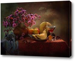 Постер Вина осеннего бокал